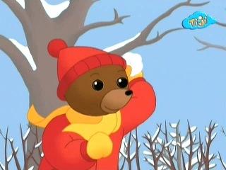 Приключения бурого медвежонка - 20.Бурый медвежонок играет в снежки